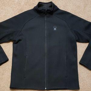 Spyder Black Zipper Sweatshirt Jacket Coat L